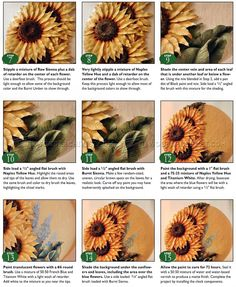 Relief Carving Patterns - Sunflower Clock - Wood Carving