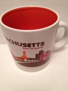 Dunkin Donuts Mug Cup Destination Massachusetts Runs On Dunkin Coffee  #dunkindonuts