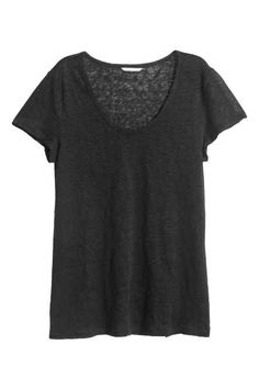 Camiseta en punto de lino