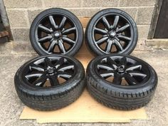 17 inch bmw mini #cooper #alloy #wheels tyres s spoke 4x100 mini one black, View more on the LINK: http://www.zeppy.io/product/gb/2/122042755569/