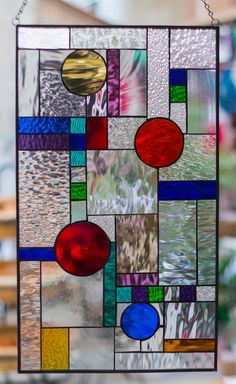 Stained Glass Tiffany Window Frank Lloyd Wright Abstract Geometric RV Motor Home. - Stained Glass Tiffany Window Frank Lloyd Wright Abstract Geometric RV Motor Home Camper - Stained Glass Mosaic, Frank Lloyd Wright Stained Glass, Wine Glass Art, Fused Glass Art, Stained Glass Designs, Glass Art Projects, Glass Art Sculpture