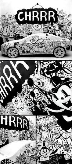 Volvo S60 - Art Session by BlackYard , via Behance
