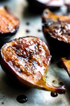 Eid al-Adha - Recipes from NYT Cooking- Grilled Figs With Pomegranate Molasses Fig Recipes, Dessert Recipes, Grilling Recipes, Cooking Recipes, Vegetarian Recipes, Molasses Recipes, Pomegranate Molasses, Parma, Fresh Figs