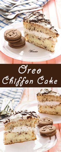 Oreo Chiffon Cake & Strawberry Ice-cream. The recipe for the strawberry ice-cream appears also in the post.