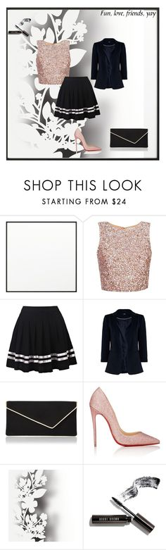 """""""Waisted Skirt"""" by kukic-zerina ❤ liked on Polyvore featuring By Lassen, L.K.Bennett, Christian Louboutin, Élitis and Bobbi Brown Cosmetics"""