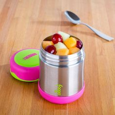 Keep your food hot or cold on the go with a Thermos King Thermal Food Jar. Stainless steel vacuum insulated double wall construction helps maintain superior temperature retention and stays cool to the touch with hot liquids. Knife Block Set, Food Jar, Bakeware, Kitchen Gadgets, Lunches, Cookware, Watermelon, Construction, Stainless Steel