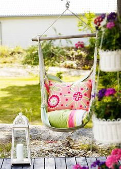Spirits of Lavender: colorful hammock chair