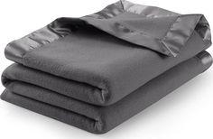 Sateen Polar Fleece Blanket (Queen, Grey) - Extra Soft Brush Fabric, Super... #UtopiaBedding