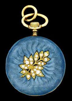 Enamel and diamond-set pocket watch, Golay Fils & Stahl.