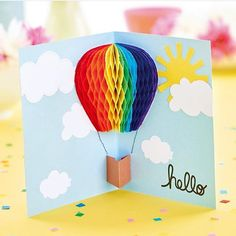 This colorful paper craft is a DIY you will totally love! 💗