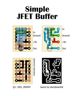 This is a library of perfboard and single-sided PCB effect layouts for guitar and bass for pedal building enthusiasts.