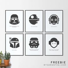 Happy Star Wars day! And you deserve a present!! Download these 6 totally FREE Star Wars prints at the link in my profile! May the Fourth be with you! Tag a friend who would appreciate these!