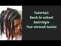 Hi guys Here is a tutorial of a flat twist, two strand twist protective style that I do often with my daughter's hair. Two Strand Twists, Back To School Hairstyles, Flat Twist, Protective Styles, Curls, To My Daughter, Dreadlocks, Silk, Hair Styles