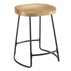 "Free 2-day shipping. Buy Linon Trenton 25"" Metal Tractor Seat Counter Stool in Black at Walmart.com"