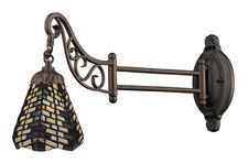 Landmark 079-TB-20 Mix-N-Match One Light Swingarm Sconce in Tiffany Bronze