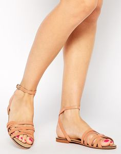Image 1 of ASOS FULLER Woven Two Part Sandals
