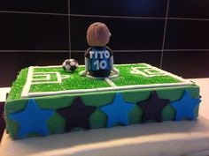 Inter supporter Cake Topper : back - made with sugar fondant