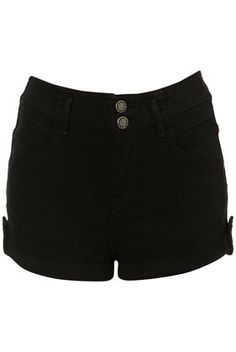 MOTO High Waist Denim Hotpants