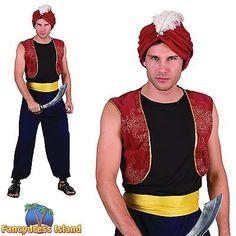 Arabian nights costumes mens arabian nights fancy dress costumes arabian bandit aladdin arab prince one size mens fancy dress costume solutioingenieria Gallery
