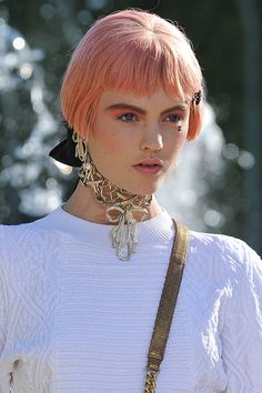 Chanel Cruise pastel hair trend...