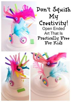 Check out the creative kids art we created and tips for how to do open-ended arts and crafts with your child. Even better these ideas are almost free!