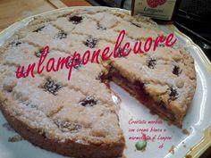 """le ricette di zia bianca: Crostata morbidosa con Crema bianca e Marmellata di Lamponi per """"unlamponelcuore"""""""