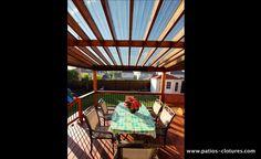 Deck with transparent roof - Patios et Clôtures Beaulieu