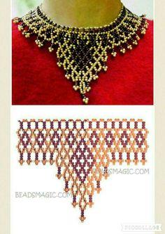 37 vueltas Seed Bead Jewelry, Bead Jewellery, Seed Bead Earrings, Diy Jewelry, Handmade Jewelry, Diy Necklace Patterns, Beaded Jewelry Patterns, Jewelry Making Classes, Bead Loom Bracelets