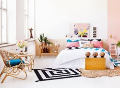 Bedroom styled by Marjo Naukkarinen from http://bambulablogi.blogspot.fi/ http://kampanja.huuto.net/unelmienmakuuhuone/#