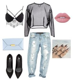 """""""Untitled #113"""" by vanessaaguerraa on Polyvore featuring One Teaspoon, Charlotte Russe, Yves Saint Laurent, STELLA McCARTNEY and Lime Crime"""