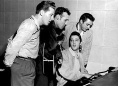 Elvis Presley, Jerry Lee Lewis, Carl Perkins and Johnny Cash