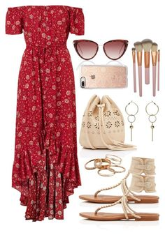 """"""""""" by biancamarie17 on Polyvore featuring Gypset, Casetify and Kendra Scott"""