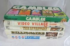Fab find Board Game Lot of 5 Vintage, Gambler, Video Village, The Inventors, Billionaire #Mixed