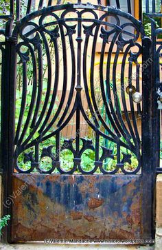 Art Nouveau gate ~ Romanian