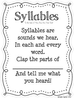 syllable song