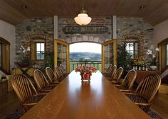 The Great Hall is the center of our hospitality and offers a stunning #Napa Valley view.