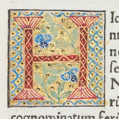"""Decorated initial """"H"""" from Scriptores historiae Augustae 