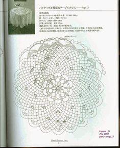 "Photo from album ""Ondori Classic Crochet Lace on Yandex. Crochet Doily Diagram, Crochet Doilies, Crochet Lace, Doily Patterns, Crochet Patterns, Crochet Ideas, Mantel Redondo A Crochet, Crochet Crafts, Album"