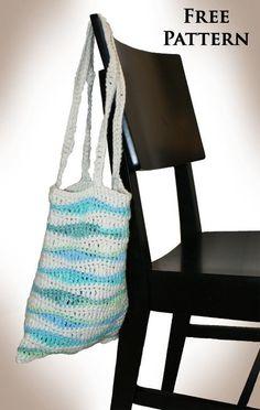 Free Crocheting Pattern: Ocean Waves Bag