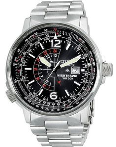 A serious timepiece for the serious watch collector, the Citizen BJ7000-52E Nighthawk stainless steel men's watch offers powerful timekeeping functions for your favorite Aeronaut. $237.00