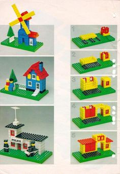 Lego Building Project For Kids 76 - mybabydoo - Fritz Fuchs - Lego Duplo, Lego Therapy, Lego Books, Lego Challenge, Lego Craft, Lego For Kids, Lego Building, Building Ideas, Vintage Lego