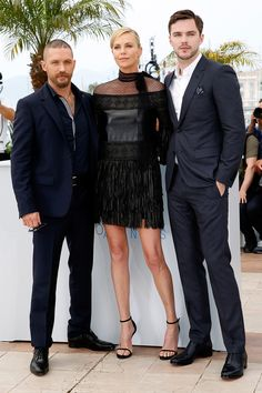 Tom Hardy, Charlize Theron, Nicholas Hoult - Cannes Film Festival 2015: Red Carpet | Harper's Bazaar