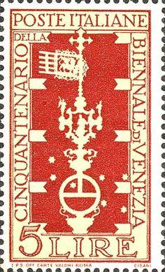 Emesso il 12 aprile 1949 5 L. - Lancia, bandiera di Venezia e Orsa Maggiore