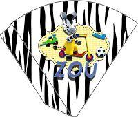 """kit de aniversário """"Zou"""", cone para guloseimas, convites """"zou"""". cestinhas, etc... - Convites Digitais Simples"""