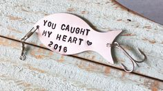 Fishing Lure Personalized YOU CAUGHT My HEART by TheCottagePath