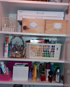 Candles and cosmetics. Cleaning closets....