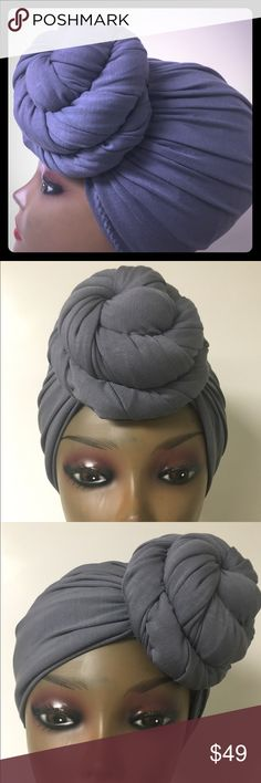 """New"" Pre-Knotted Turban Knotted  turban can be worn four ways. Seamless full cap coverage for, Naturalistas, Resort wear, long term Hospital  Stays Chemotherapy patients women with hair loss, Working out, Bad hair days or just making a Fashion Statement.One size fits most 21-23 circumference. Turban Fabulous Accessories Hats"