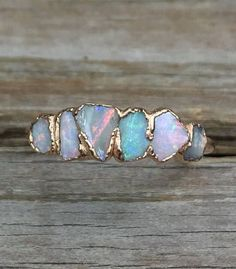 Opal ring - Must have! -Raw Opal ring - Must have! - Raw opal ring size 3 4 5 6 7 8 9 10 11 / Australian opal ring / Fire opal ring / Gift for wife Raw tourmaline ring / Gold tourmaline ring / Watermelon Cute Jewelry, Jewelry Rings, Jewelry Accessories, Jewelry Design, Beaded Jewelry, Jewelry Ideas, Cheap Jewelry, Jewelry Websites, Jewelry Shop