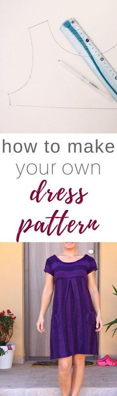 DRESS PATTER MAKING TUTORIAL Ever wanted to make clothes that fit you perfectly? This simple and easy tutorial on dress pattern making will teach you how to make your own dress pattern in a snap! #sewing #sewingpattern #sewingtutorial #sewingprojects #sewinginspiration #pattern #patternmaking #dresspattern