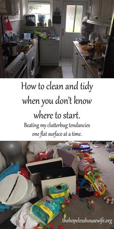 How to clean up when you don't know where to start - finding small daily wins to beat the clutter and overwhelm.